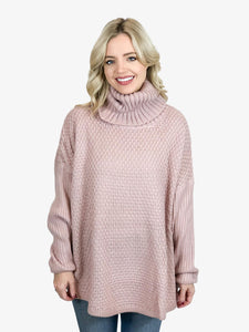 Cozy Days Sweater in Mauve