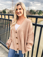 Load image into Gallery viewer, Peach Oversized Cardi