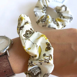 Botanical Print Scrunchie