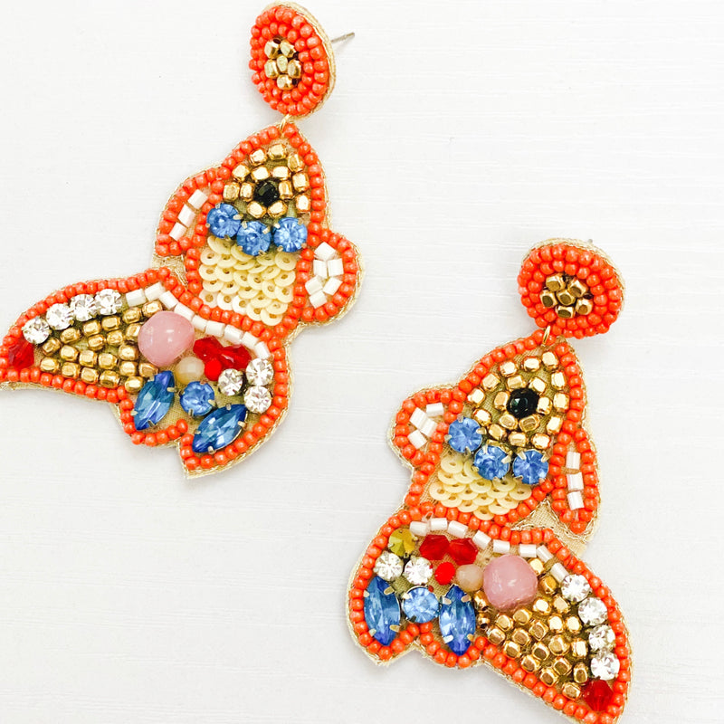 Fishy Fishy Beaded Earrings