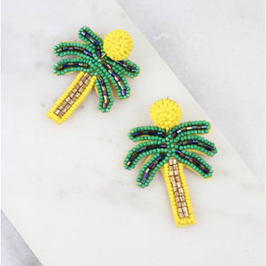 Tara Beaded Palm Earrings