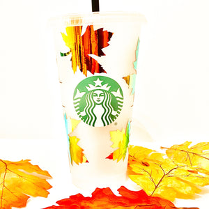 Falling Leaves Holographic Tumbler