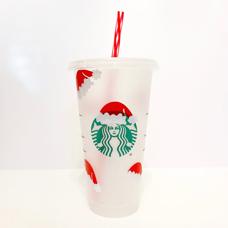 Santa Hat Tumbler- customize with name