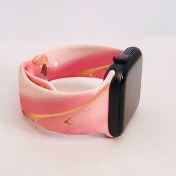 Pink Marble Apple Watchband