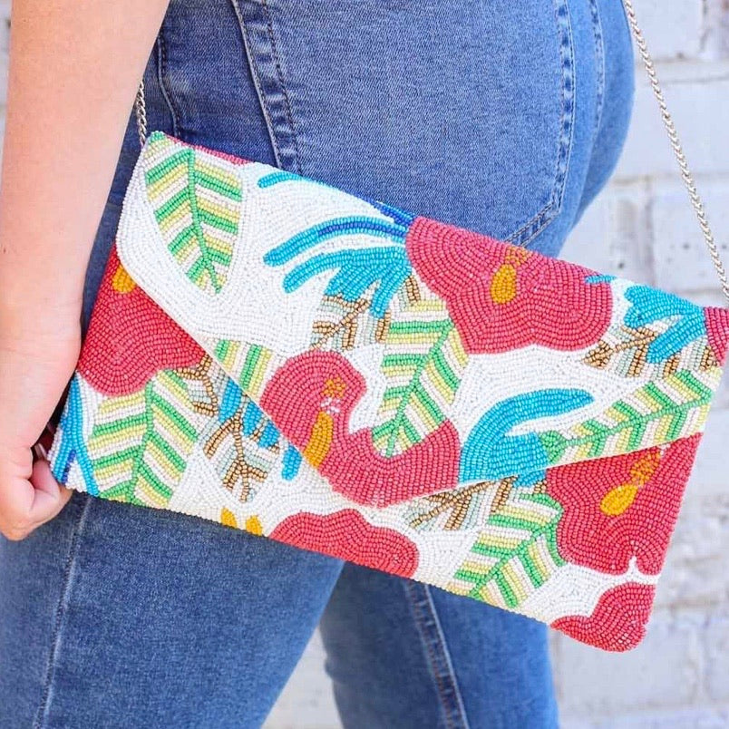 Island Time Beaded Clutch