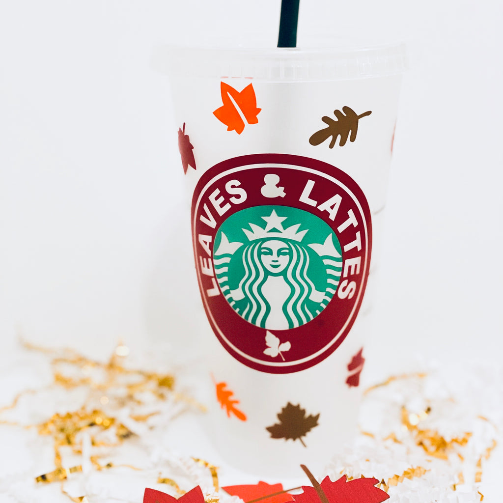 Leaves and Lattes Custom Tumbler