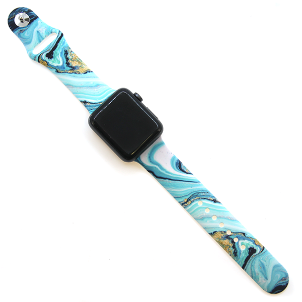Blue and Gold Cut Stone Apple Watchband