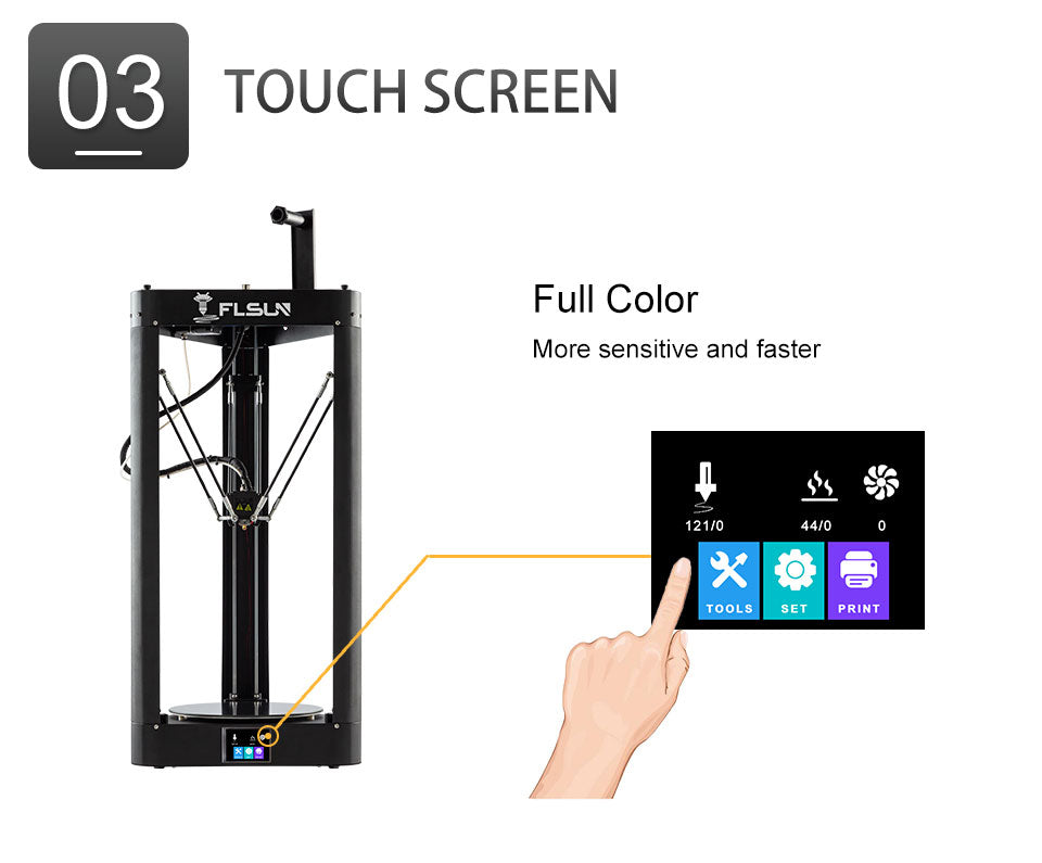 Flsun QQ-S Pro is a fast, big print size, easy use 3D Printer selling in Perth.
