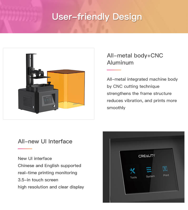 The LD-002R Resin is easy to assemble, reliable, and affordable, and as such, is the best-selling 3D printer on the market with a global success rate of 84%.