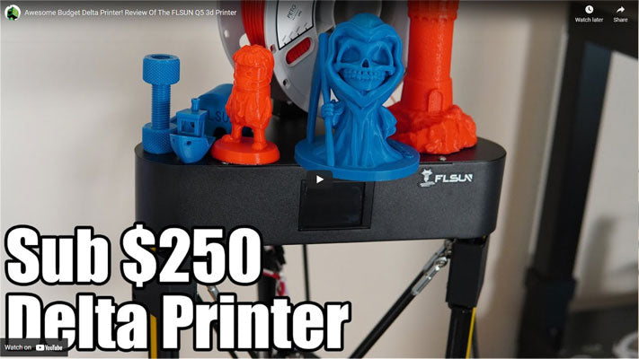 Awesome Budget Delta Printer! Review Of The FLSUN Q5 3d Printer
