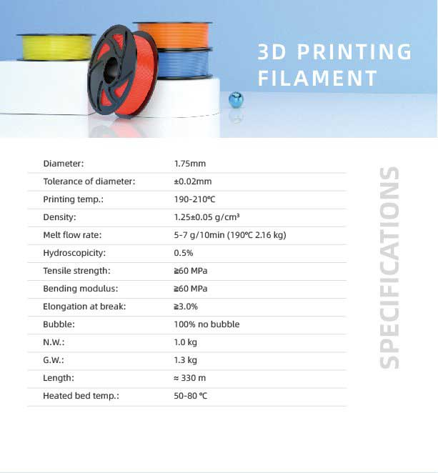 TronHoo PLA 3D Printing Filament specifications is the printing filament that brings your creativity to life.