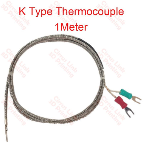 K Type Thermocouple Temp Sensor 1 Meter (Probe Ring)