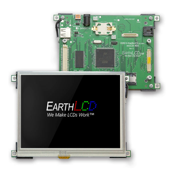 "ezLCD-4056 - 5.6"" VGA   Programmable IOT HMI Smart Touchscreen System"