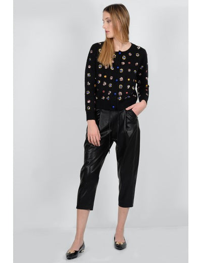 Molly Bracken Faux Leather Jogging Pant