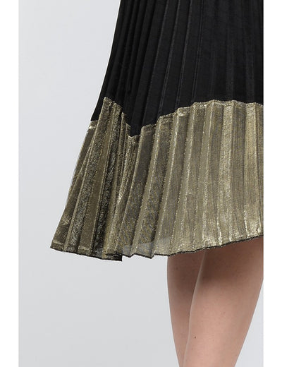 Jupe Plissee Metallic Skirt
