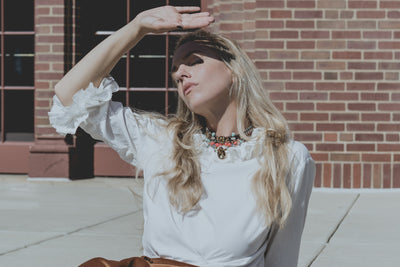 Ruffl'd Up | vintage white blouse