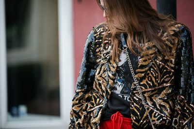 black jack | vintage sequins jacket