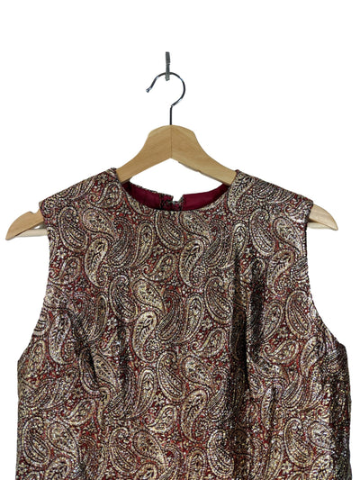 blouse | paisley lame top