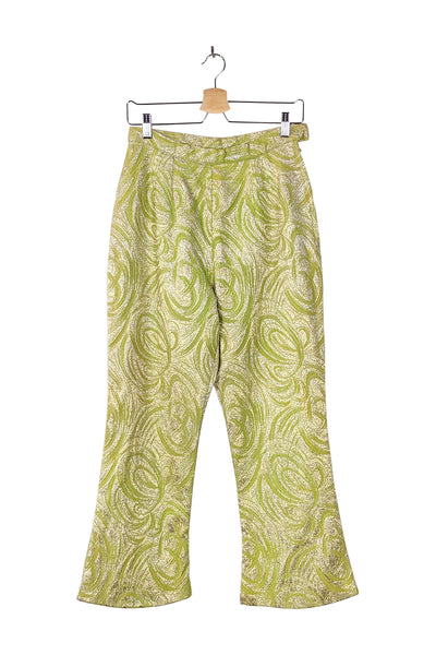 field of gold | green metallic sparkle pant