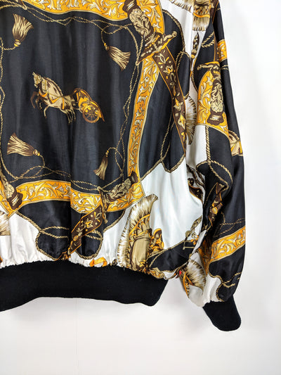 faux fun glam print vintage jacket