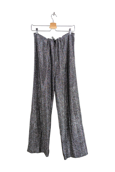 life of the party | metallic wide leg sparkle pant