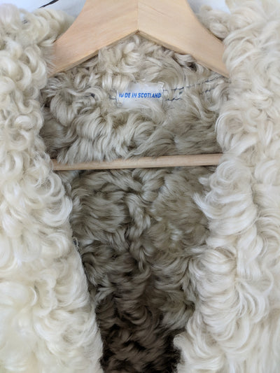 Blue Bonnet Shearling Vintage Coat