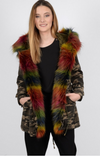 Molly Bracken Fur Trim Camoflage Jacket