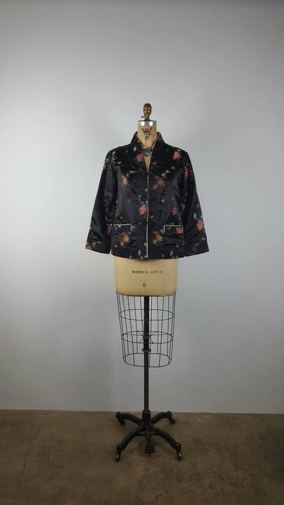 fireworks | silk embroidered reversible jacket