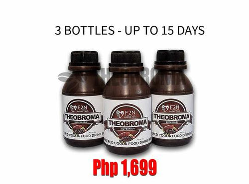3 BOTTLES - THEOBROMA SUPERFOOD (UP TO 15 DAYS SUPPLY)