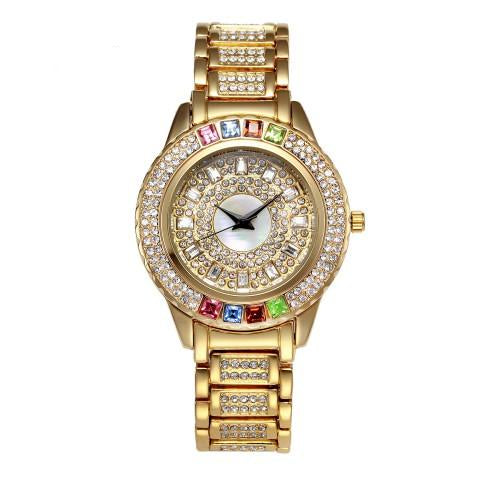 New Hot Full Diamond Quartz Timepiece for Women with Austria Crystals