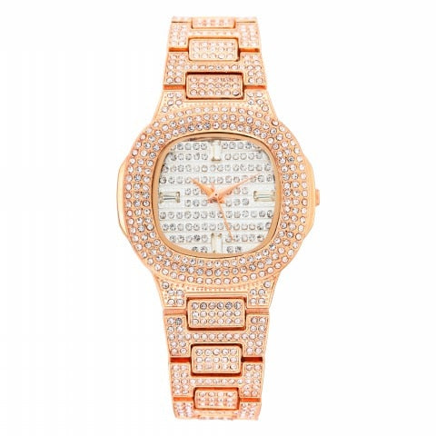 Iced Out Bling Bling Diamond Wrist Watch for Women