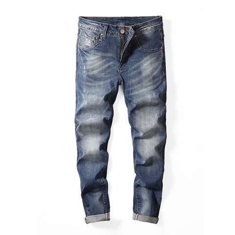 Straight Denim Jeans for Men, Casual Long Denim Pants/Jeans