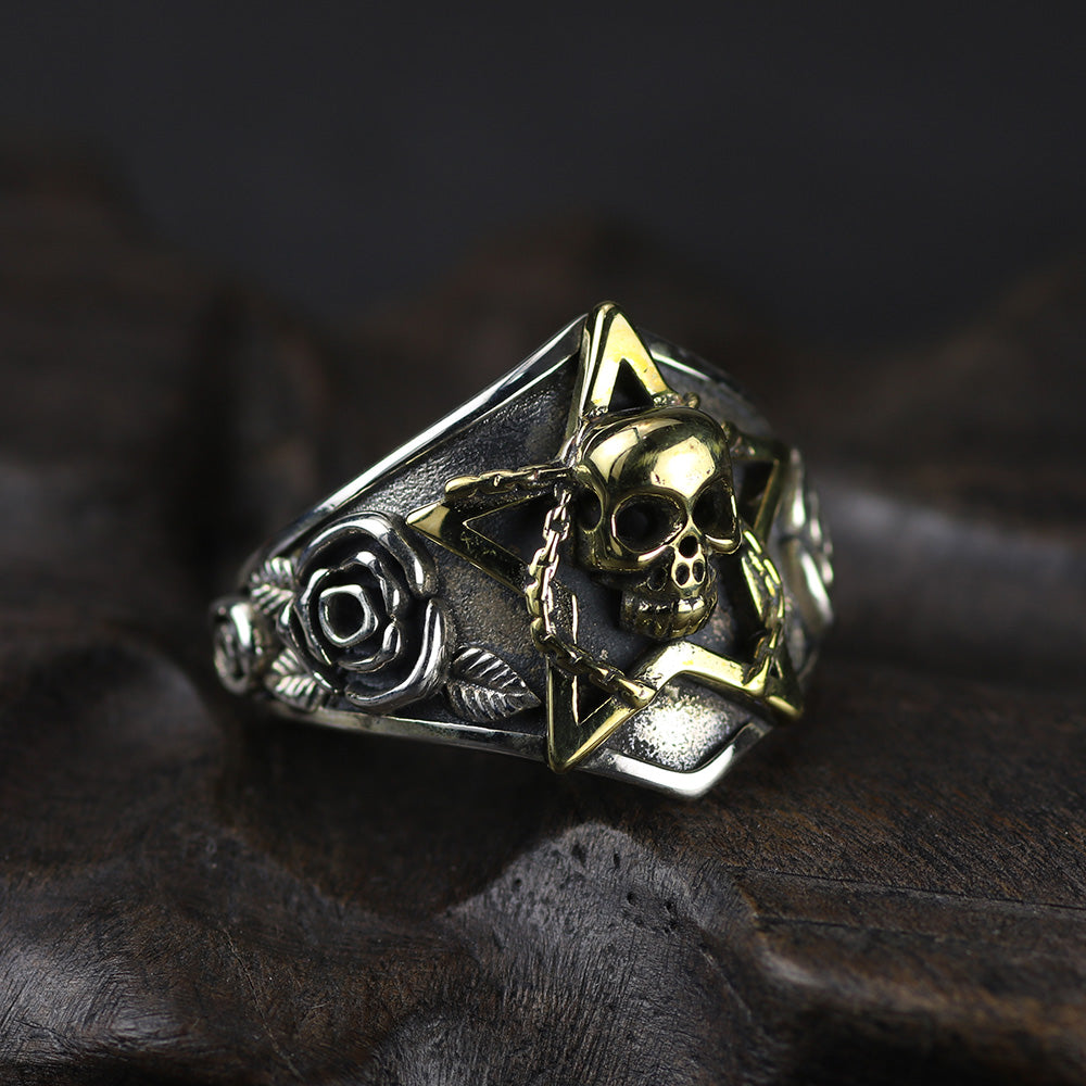 Real 925 Sterling Silver skull Ring for Men and Women