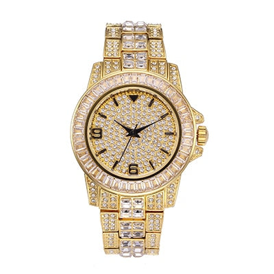 Luxury Iced Out Bling Bling Quartz Custom Watch for Men