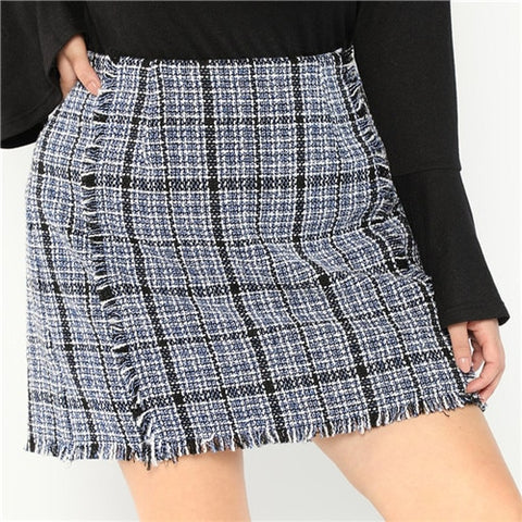 Plus Size Clothing | Plus Size High Waist Mini Skirt- Rudiment Sellers