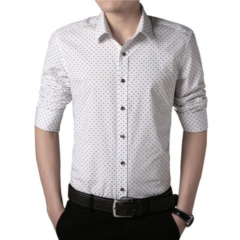 Plus Size Casual Printed Cotton Shirt for Men, Plus Size Shirts for Men