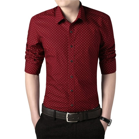 Casual Printed Cotton Shirt for Men