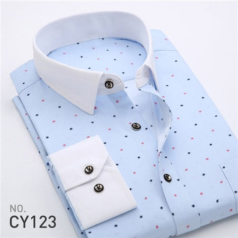 Retro Printed Semi-Casual Shirts for Men, Full Sleeve Printed Shirt