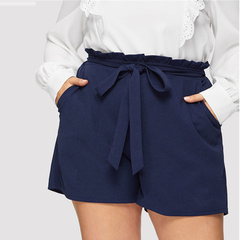 Plus Size Clothing- Plain Plus Size Shorts for Women- Rudiment Sellers