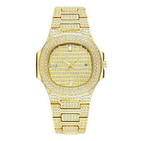 44MM Iced Out Bling Bling Wrist Watch for Men