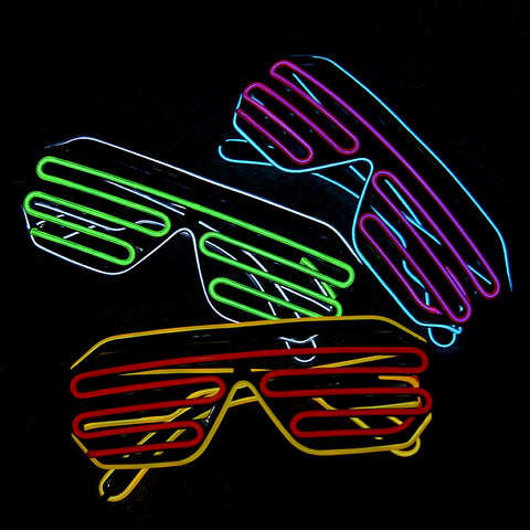 Flashing Led Glasses | Neon Party/Rave LED Glasses | Rudiment Sellers