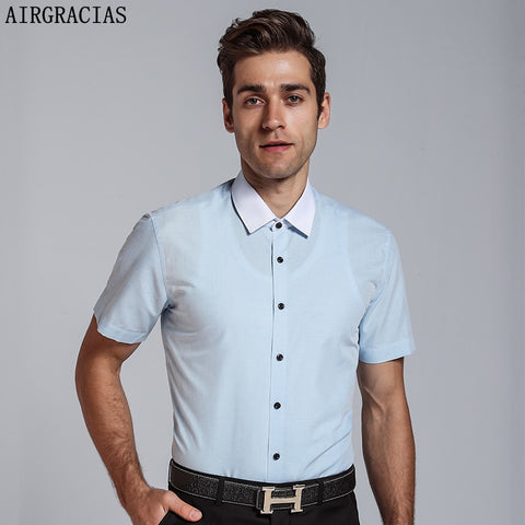 Half Sleeve Slim Fit Formal Plus Size Shirt, Plus Size Shirts for Men