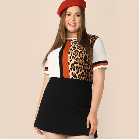 Plus Size T-shirt | Leopard Print Top for Women | Rudiment Sellers