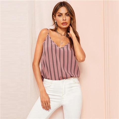 Cami Top for Girl- Bohemian Pink Ladies Camisole Top- Rudiment Sellers