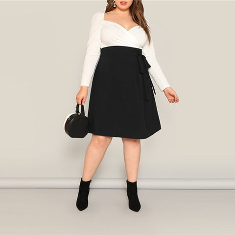 Plus Size Clothing| Plus Size Knee Length Skirt | Rudiment Sellers