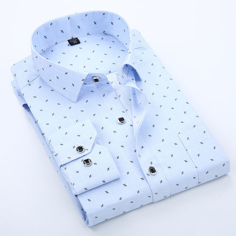 Slim Fit Printed Semi Formal Shirt for Men