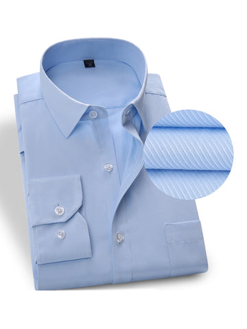 New Formal Striped Shirts for Men, Plus Size Shirts for Men