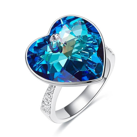 Elegant Heart Shaped Cocktail Ring for Her