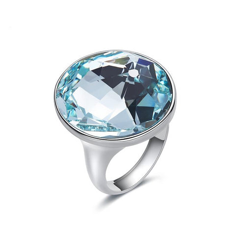 Elegant Austrian Rhinestone Ring for Women, Gemstone Rings for Women