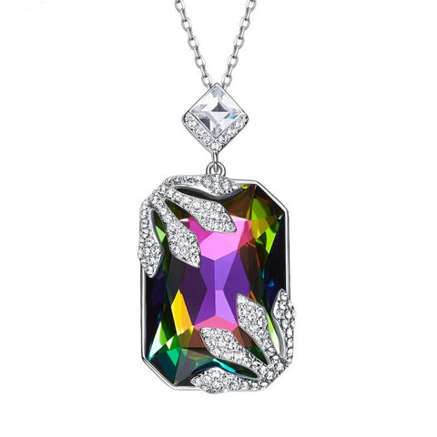 925 Sterling Silver Gemstone Pendant for Women